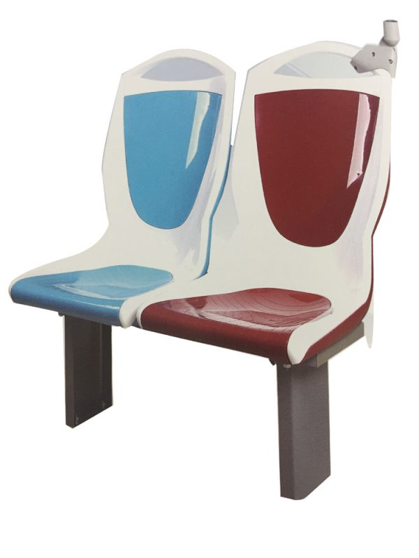 SKR-M1 Plastic surface passenger bus seat